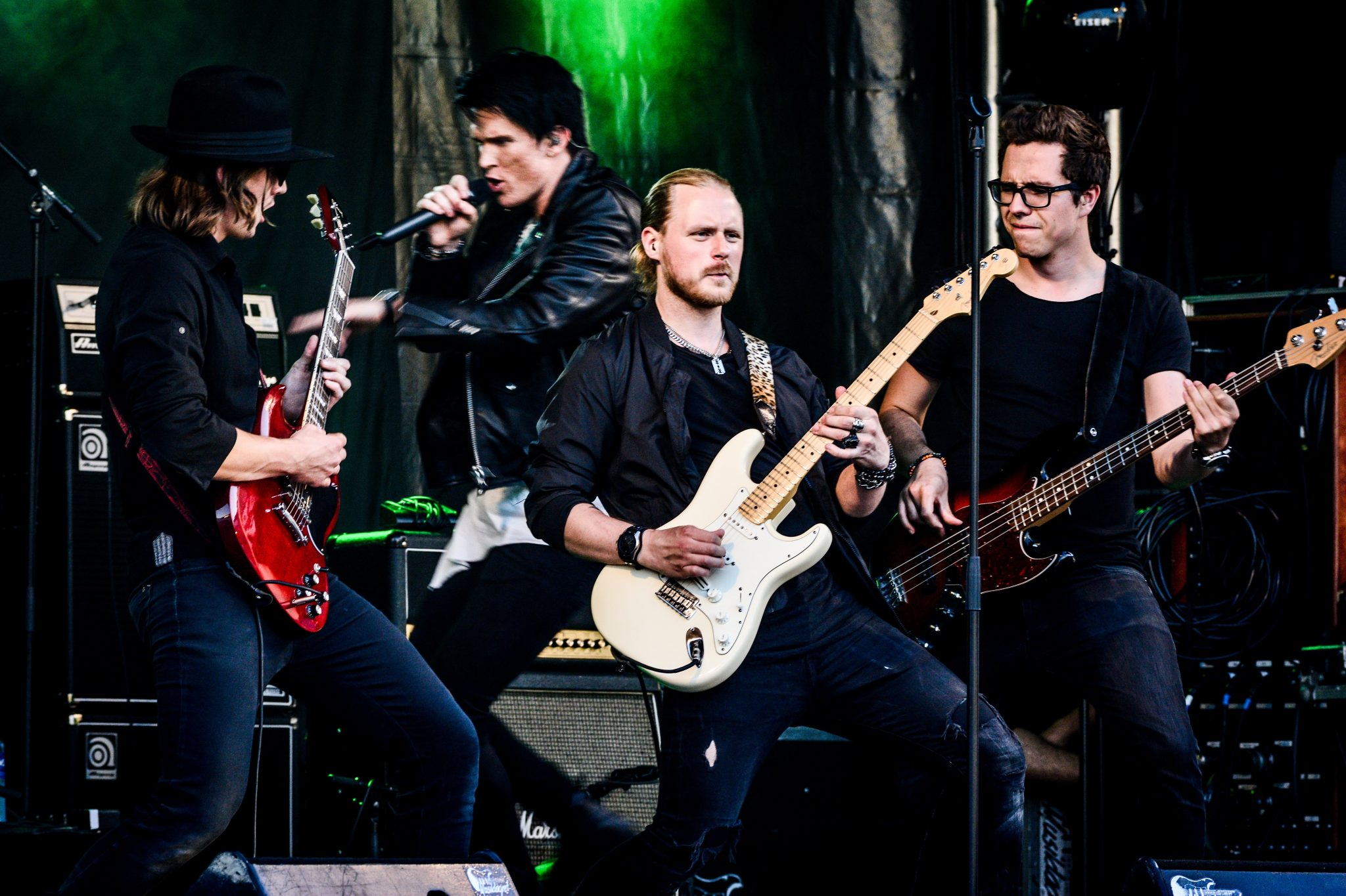 adult rock band performing live