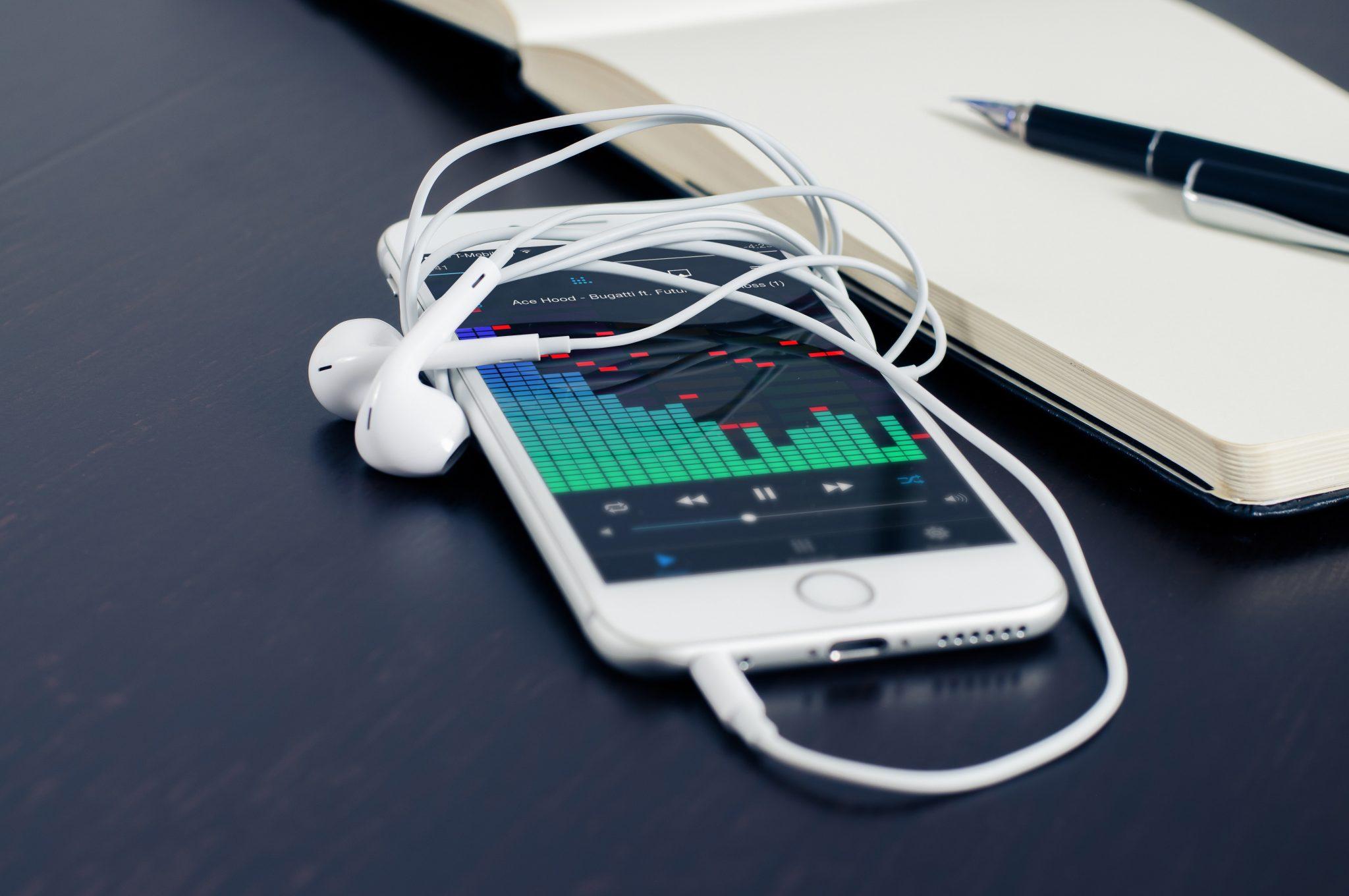 iPod playing music