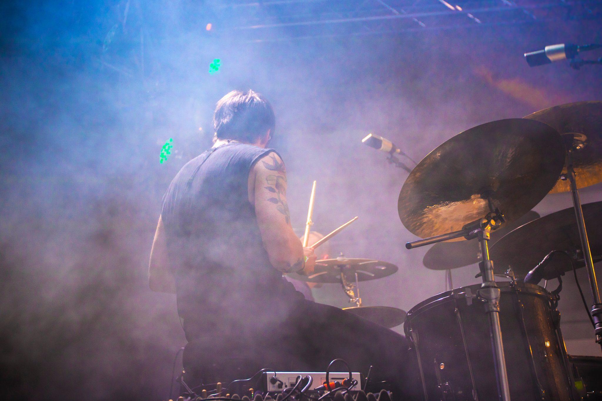 drummer performing at live concert