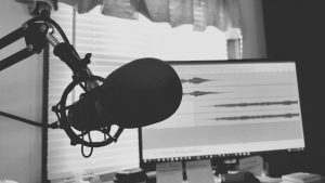 Microphone in home recording studio