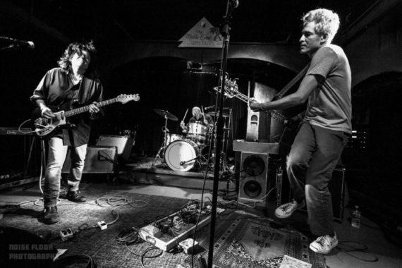 Black and white power trio in venue