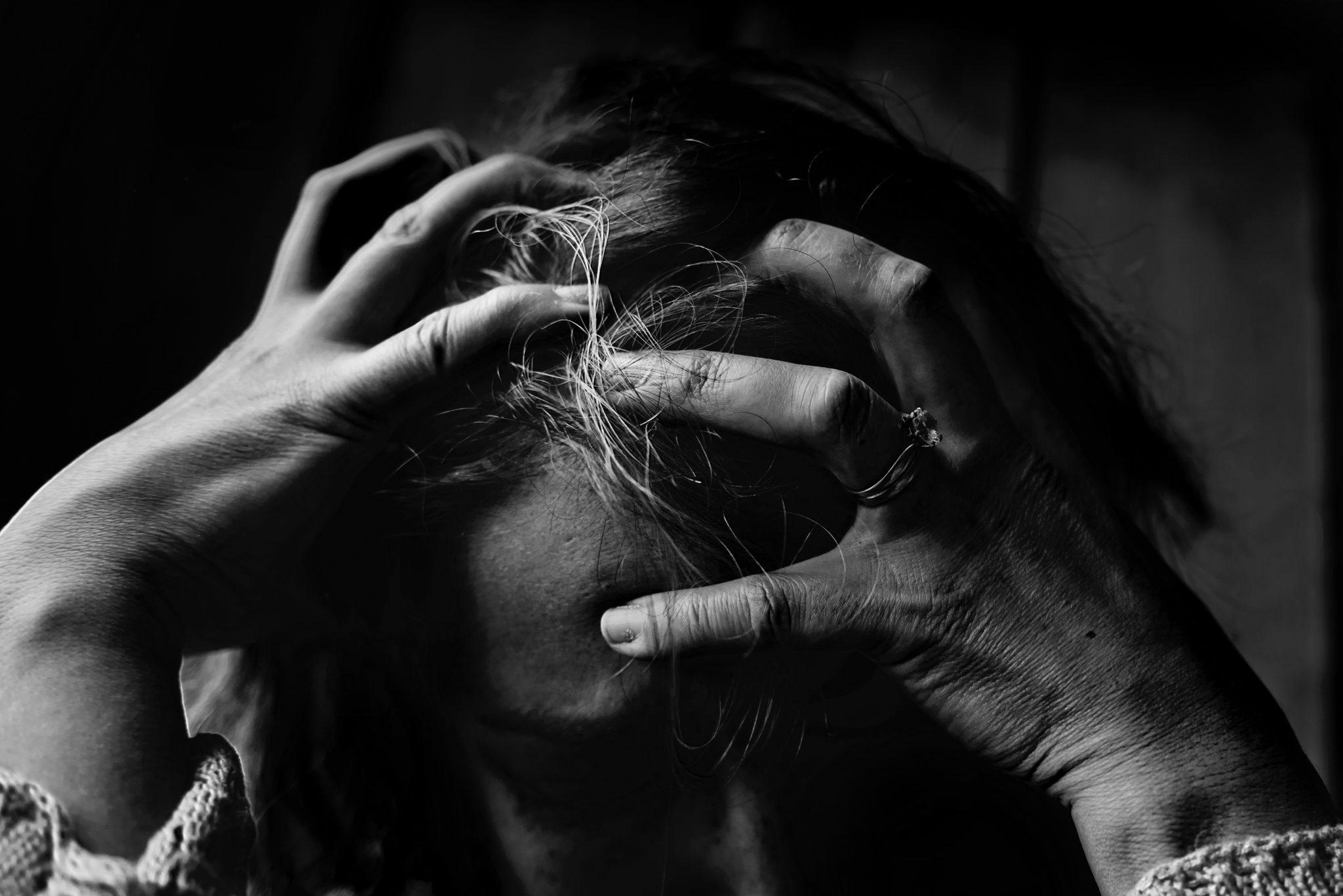 woman feeling nervous