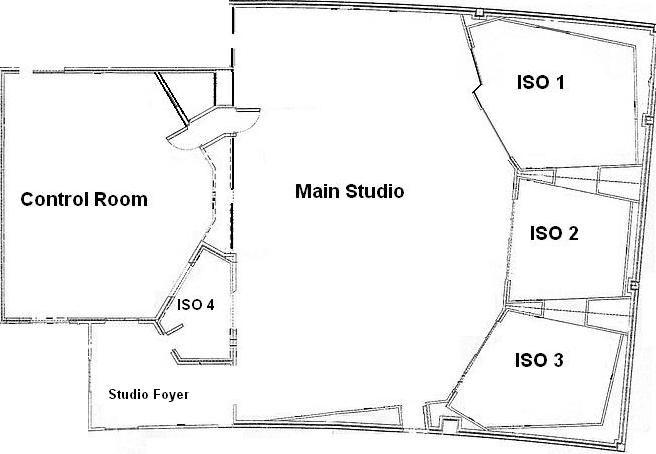 recording studio floorplan
