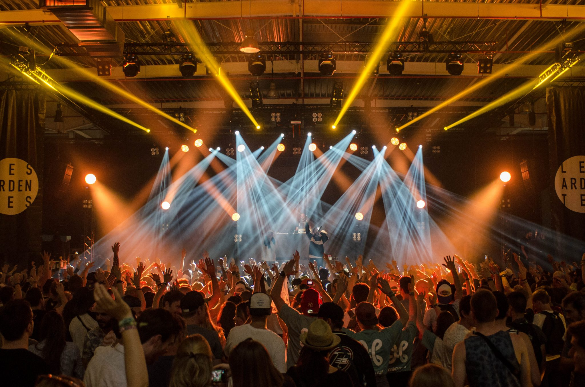 live music concert with lights and crowd