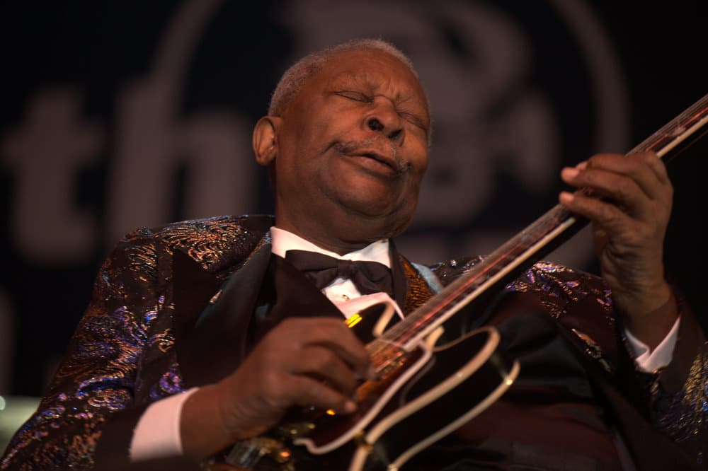B.B. King making a 'guitar face'