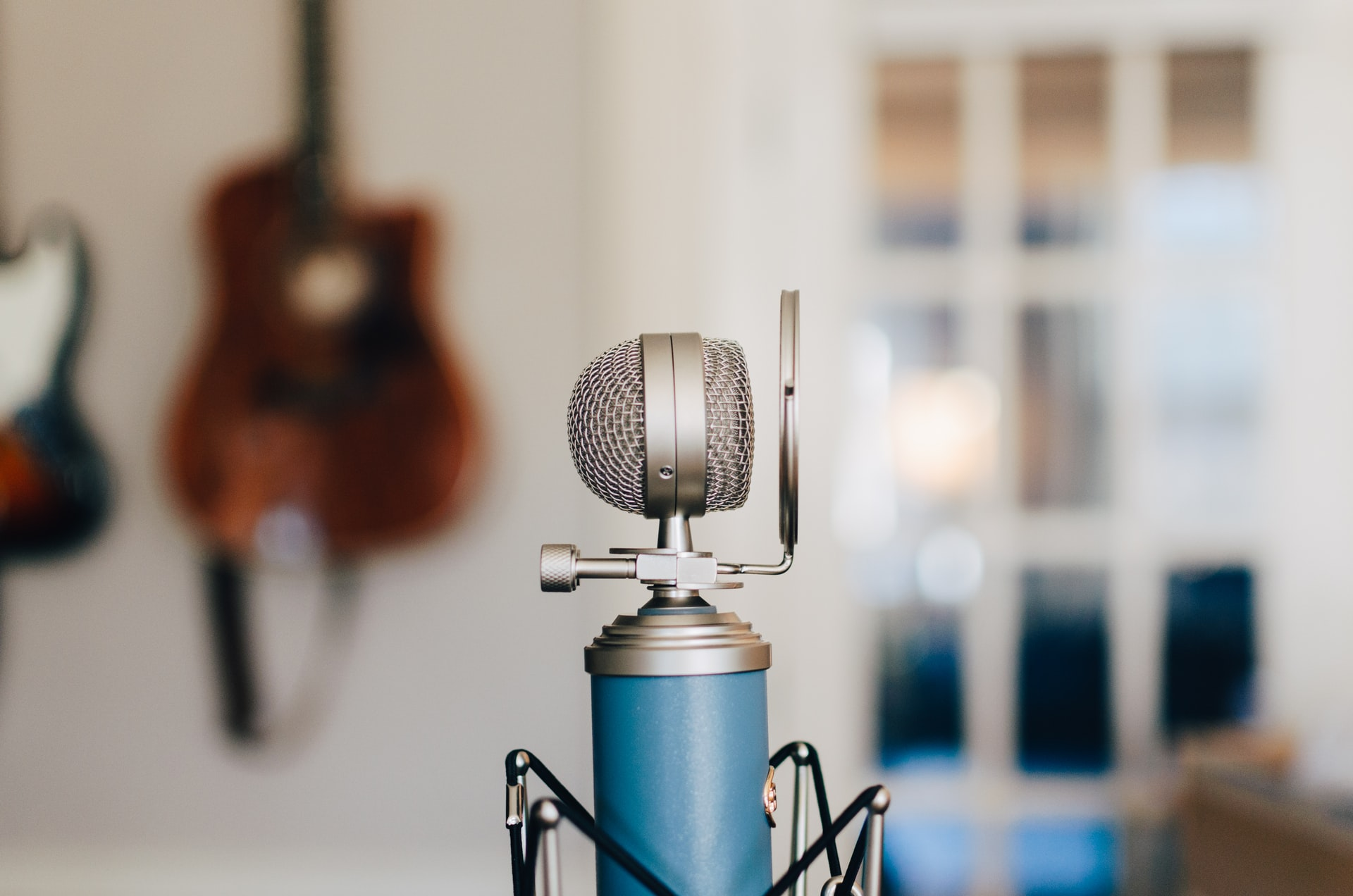 close up of condenser microphone