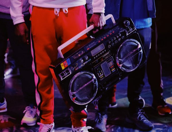 MC holding a radio