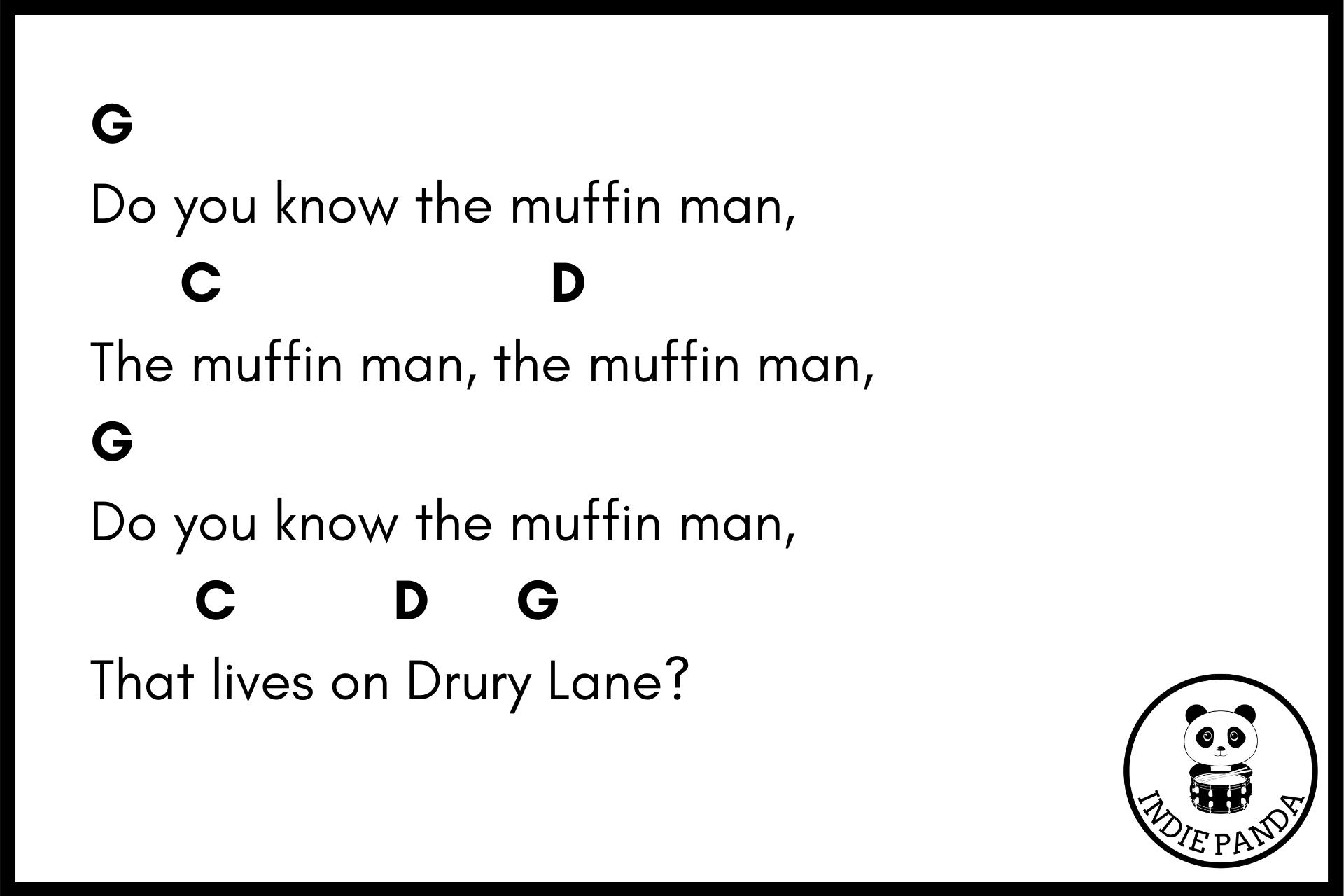 the muffin man chord chart