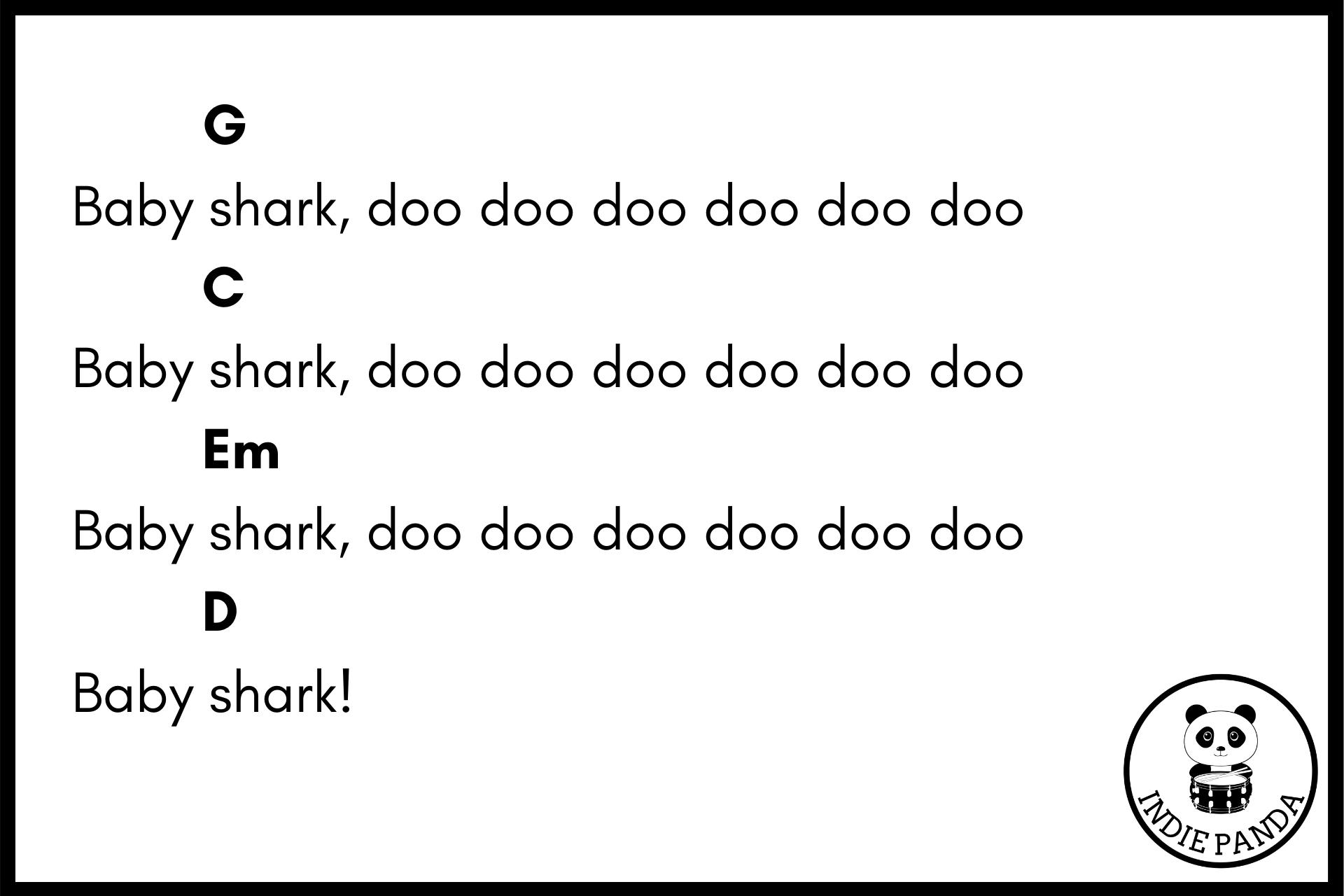 baby shark chord chart