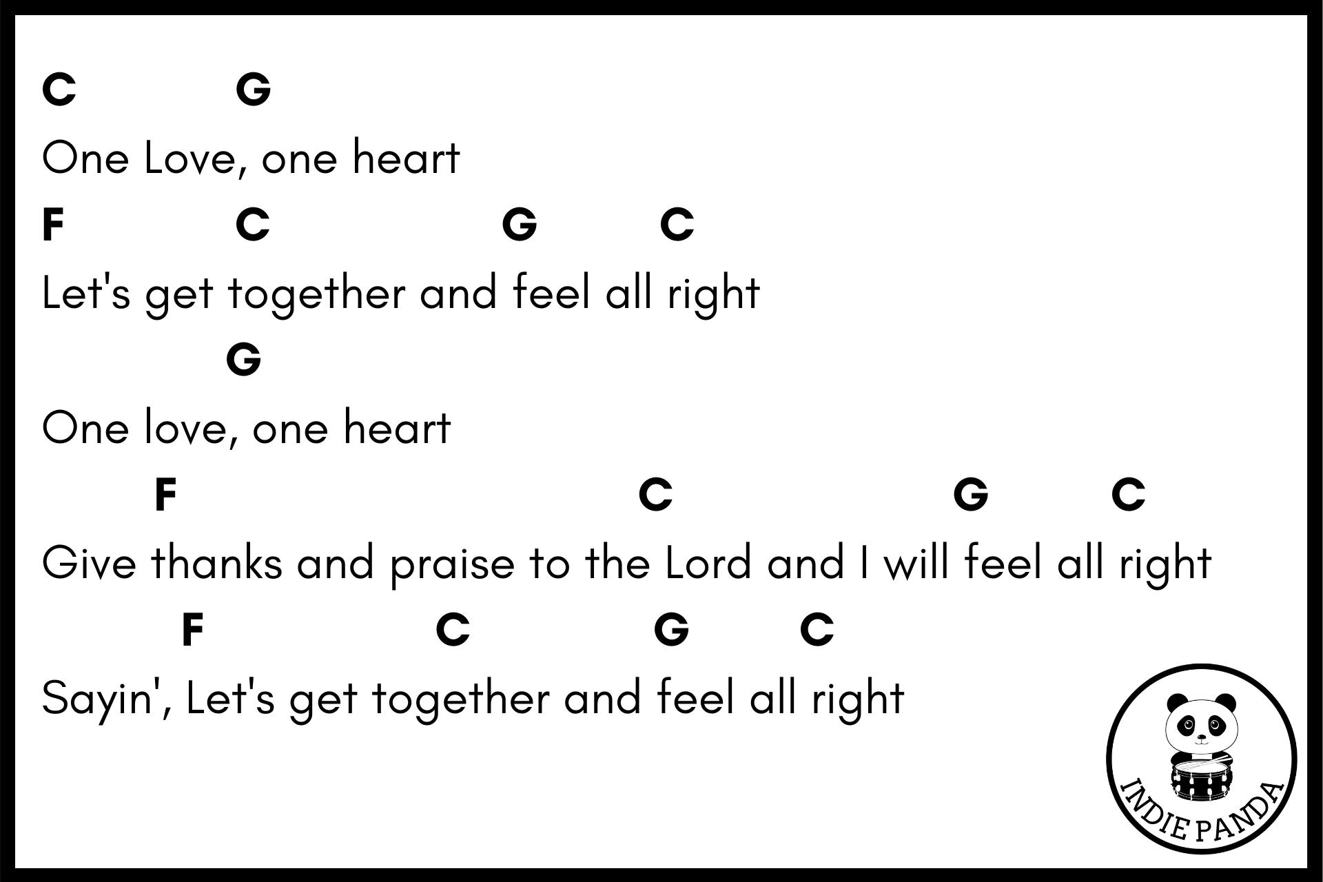 one love chord chart