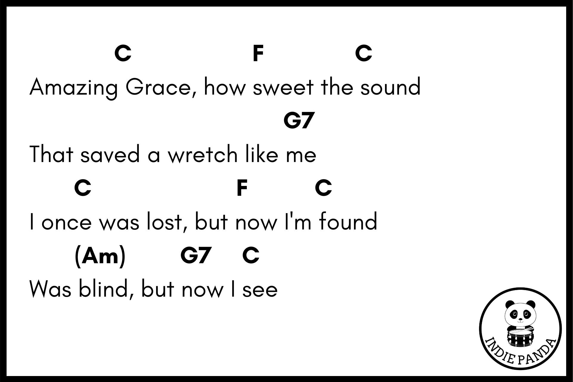 amazing grace chord chart