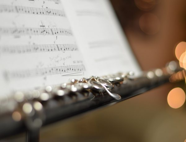 flute and sheet music